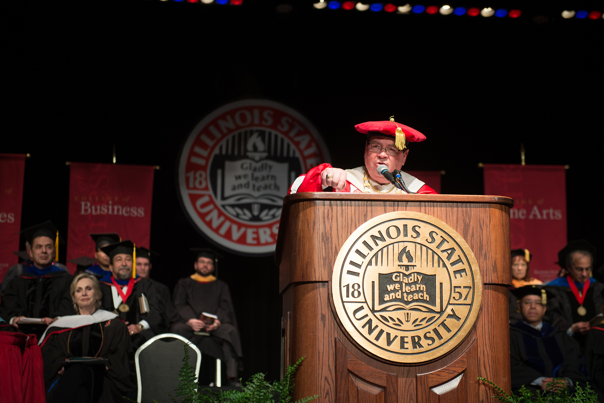 President Dietz speaks at Founders Day Convocation